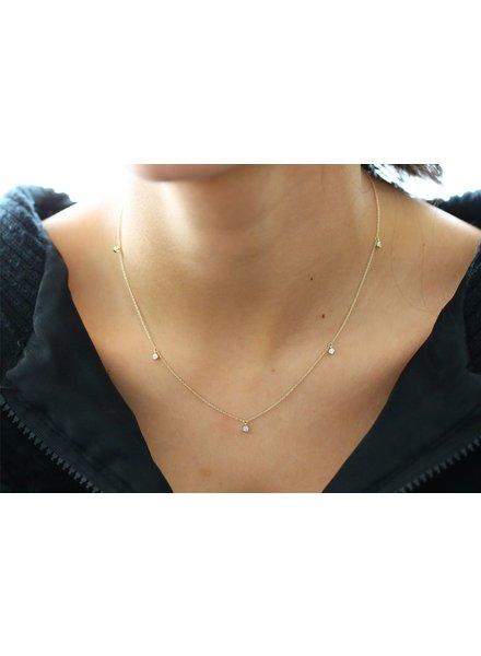 ferkos fine jewelry five diamond dangle necklace