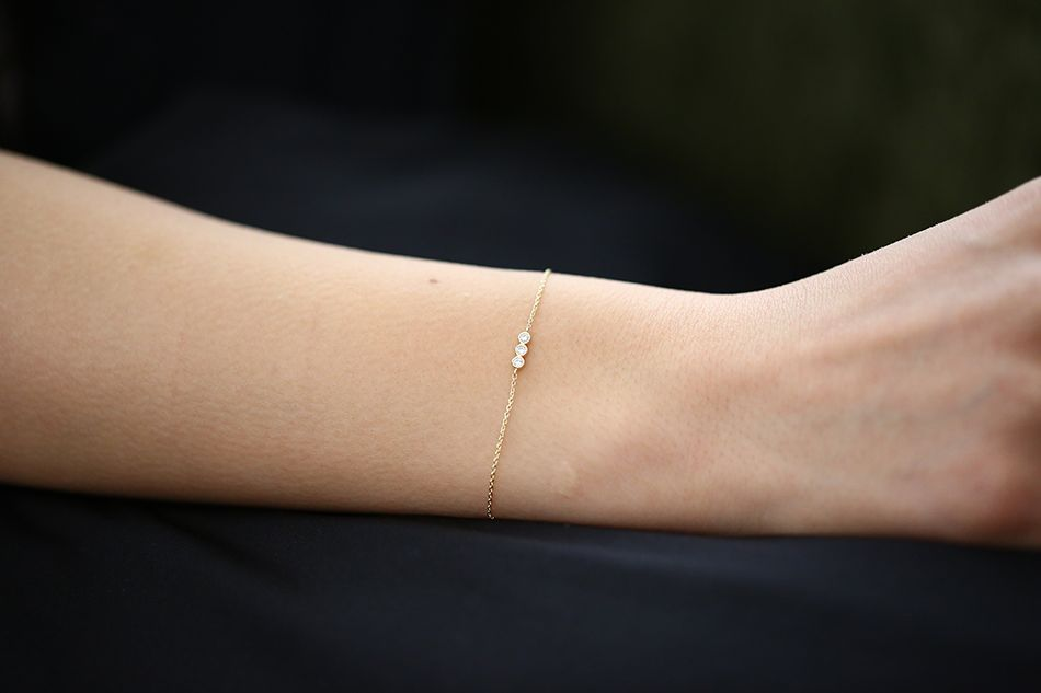 ferkos fine jewelry trio line diamond bracelet