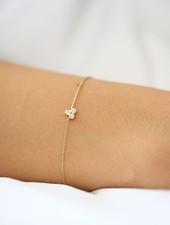dainty triangle trio bracelet