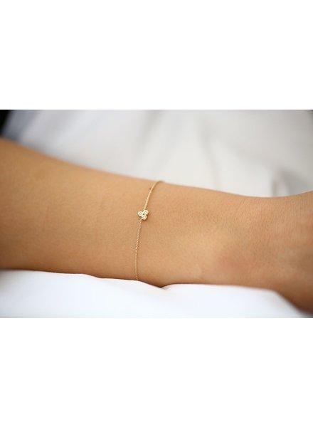 ferkos fine jewelry dainty triangle trio bracelet