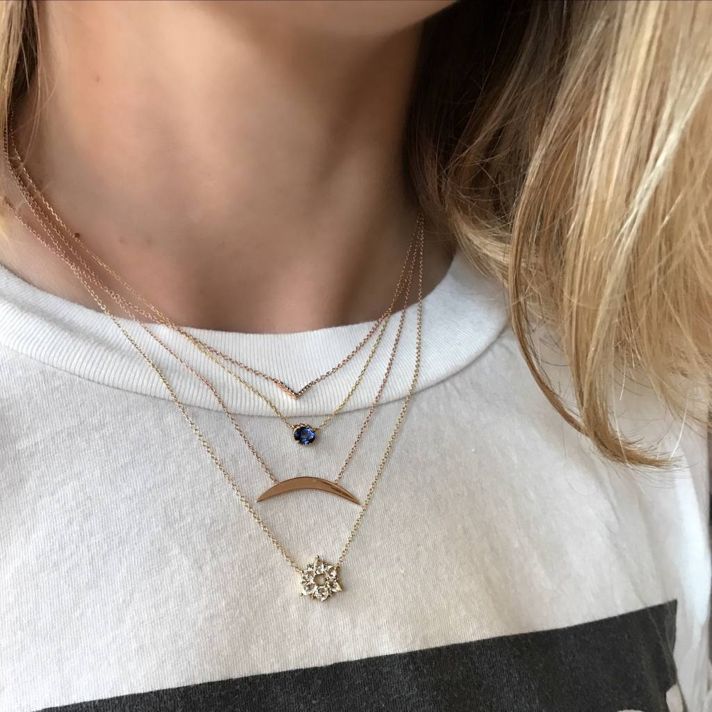 ariel gordon arc geo necklace