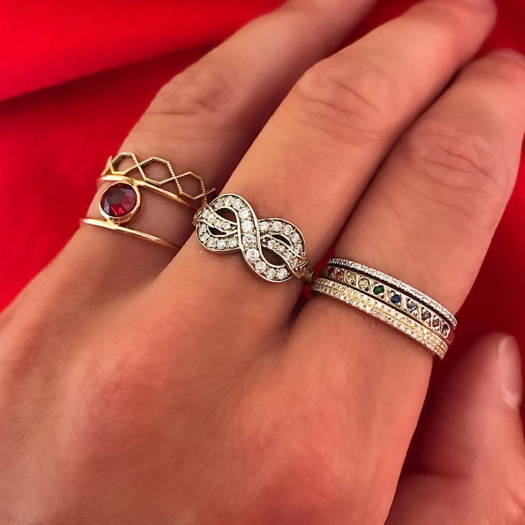 elisa solomon 10 stone tie dye ring