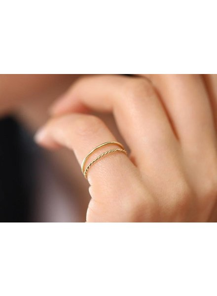 ferkos fine jewelry twist rope wedding band