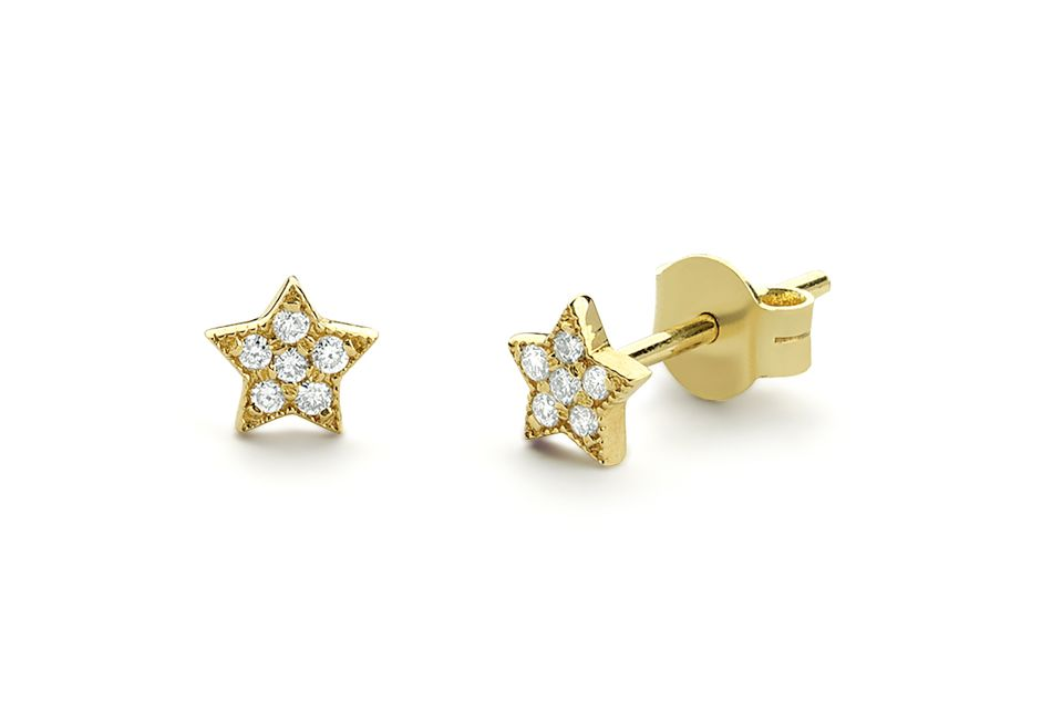 ferkos fine jewelry tiny diamond star studs