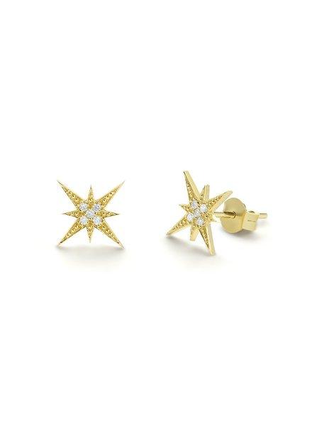 ferkos fine jewelry starburst diamond studs