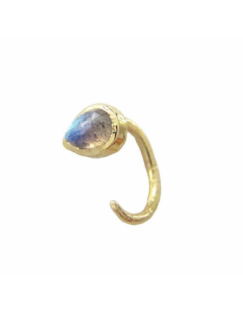 misa jewelry compass huggie
