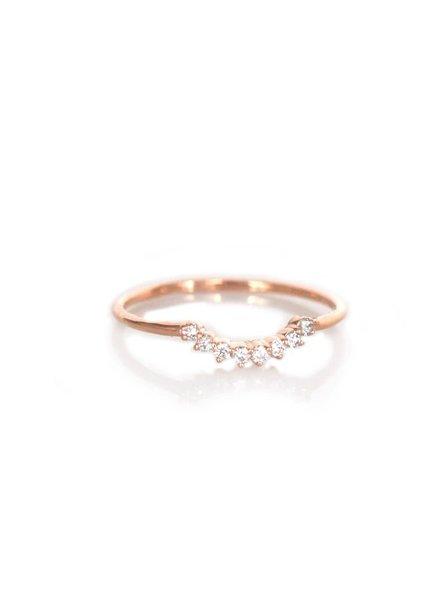 la kaiser diamond cascade ring