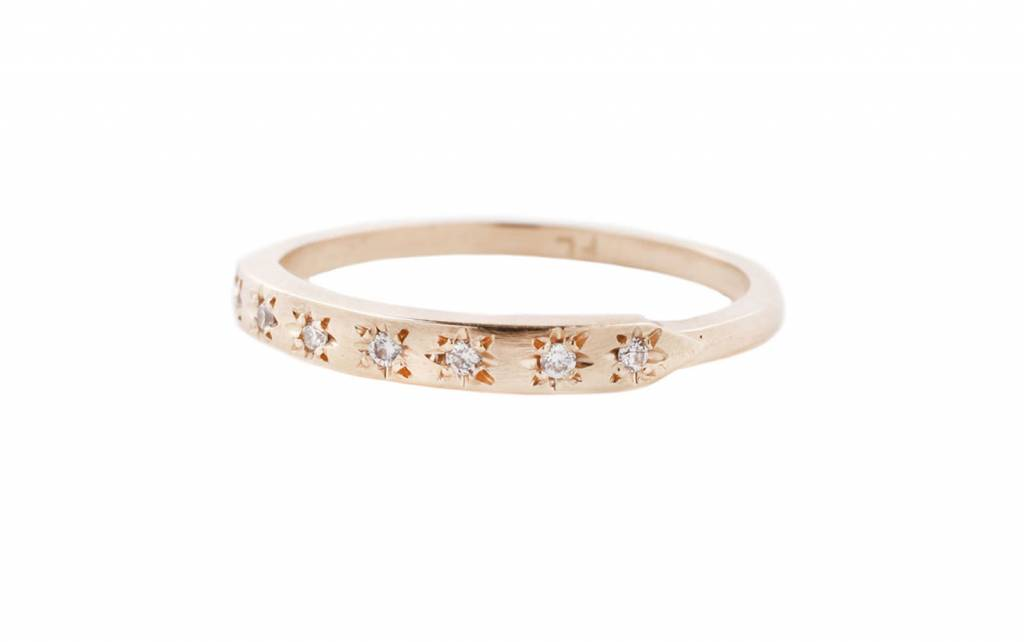 fiat lux tuile star set diamond ring