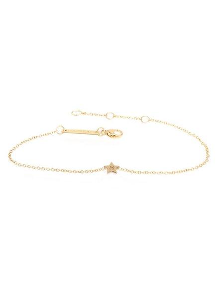 zoe chicco initial star bracelet