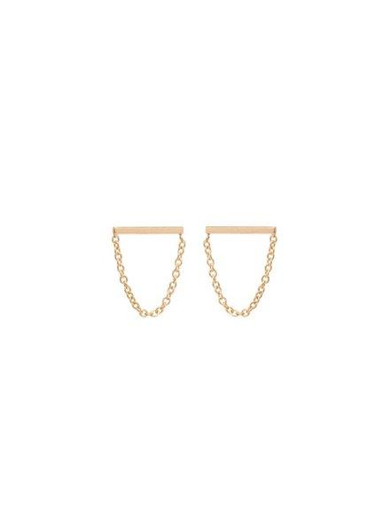 zoe chicco chain bar stud drop earrings