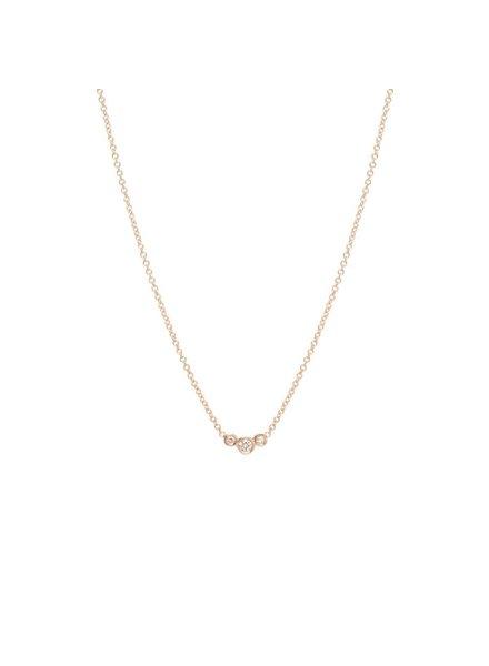 zoe chicco small graduated bezel diamond necklace