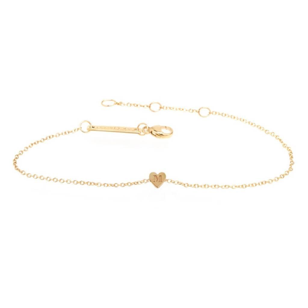 zoe chicco initial heart bracelet