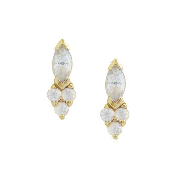 hayley k.s. white sapphire marquise studs