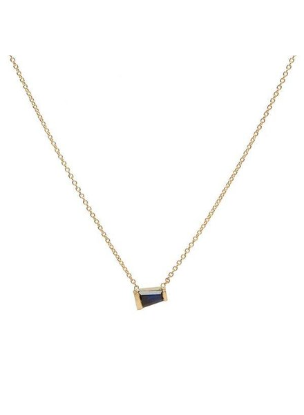 hayley k.s. tapered baguette sapphire necklace