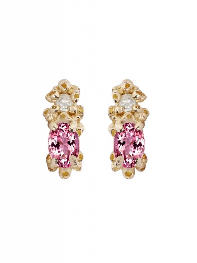 ruta reifen pink tourmaline sapphire stud