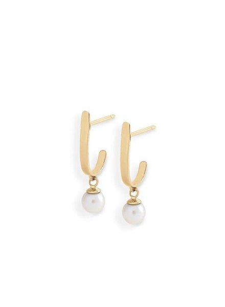blanca monros gomez curved pearl bar studs