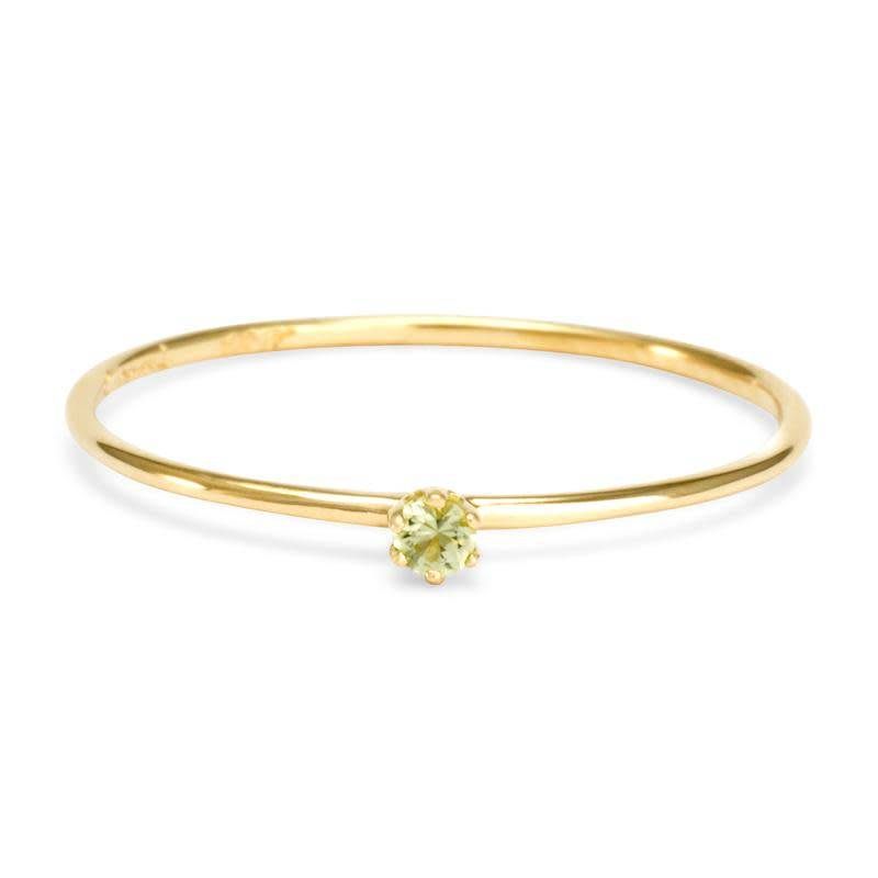 satomi kawakita jewelry baby peridot ring