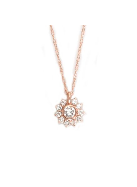 la kaiser sunflower diamond pendant