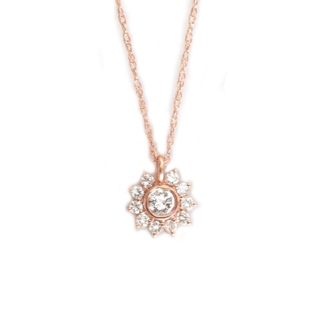 la kaiser sunflower diamond pendant