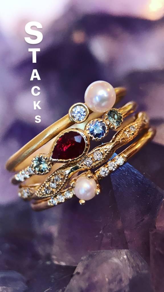 jennie kwon designs ruby teardrop diamond ring