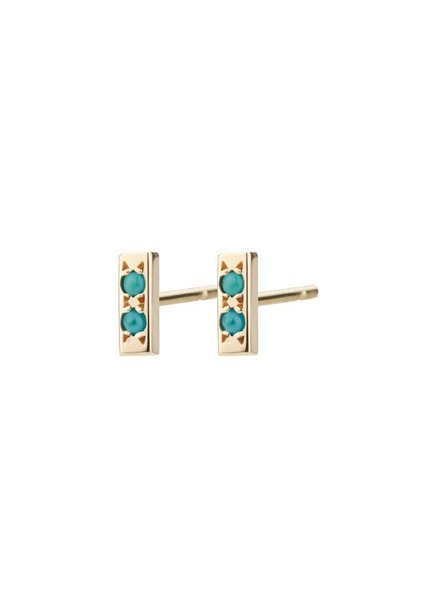 aili jewelry maya azul earrings w/ turquoise