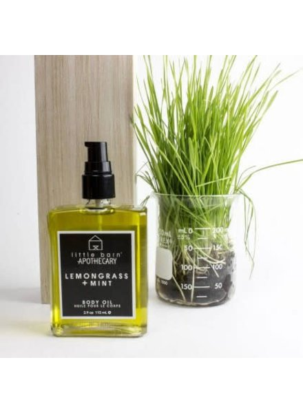 little barn apothecary honeysuckle + grapefruit body oil