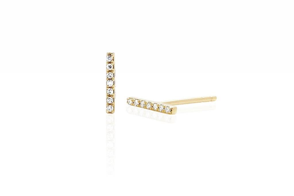 ef collection diamond bar studs