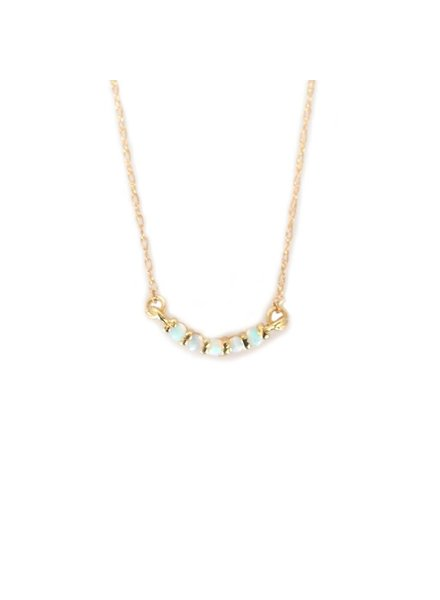 la kaiser opal rainbow curve necklace