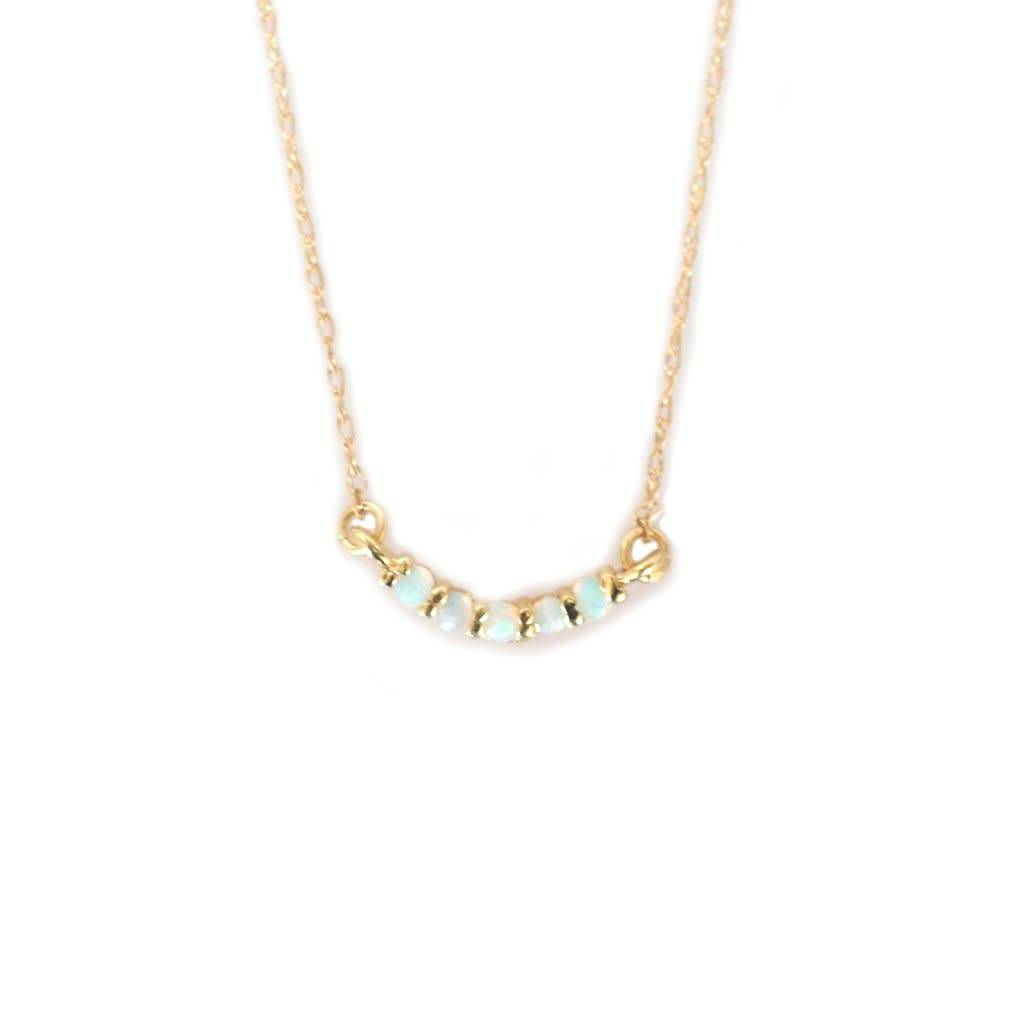 la kaiser opal rainbow curve necklace