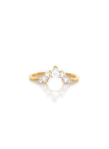 la kaiser angel arc diamond ring