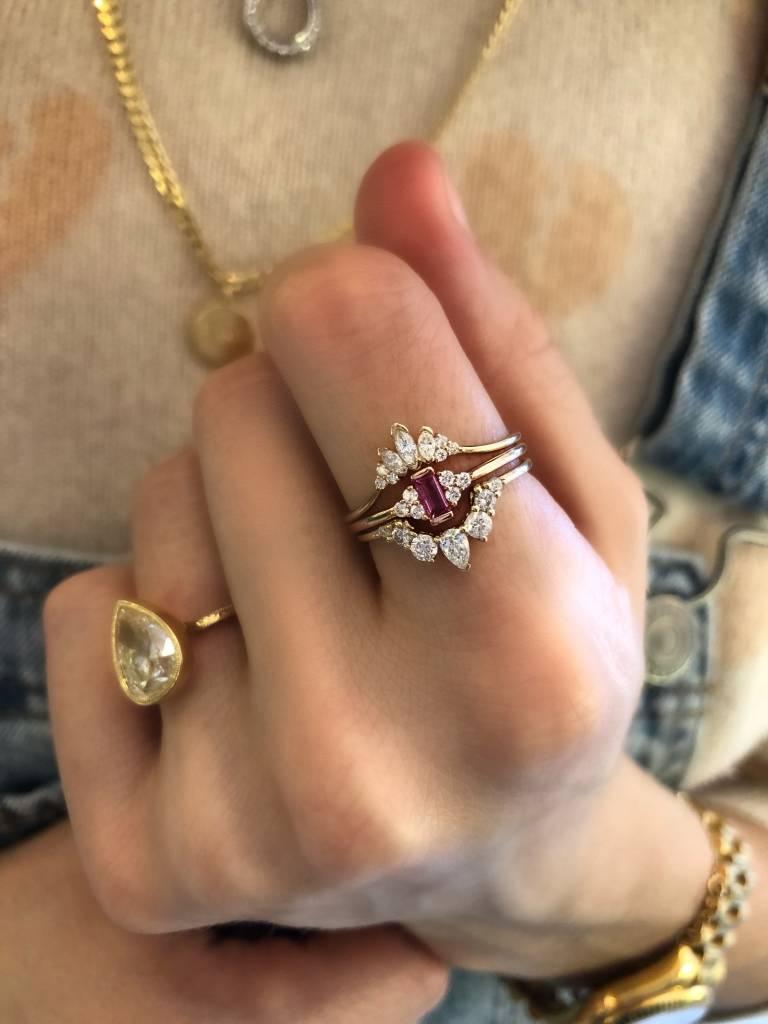 la kaiser angel arc diamond ring