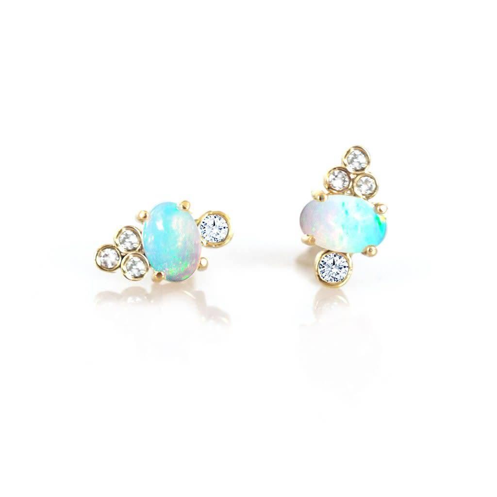 la kaiser opal and diamond sundae studs