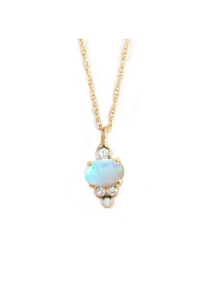 la kaiser opal and diamond sundae pendant