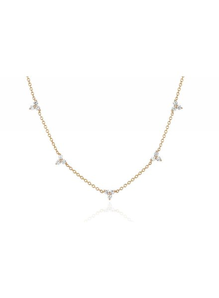 ef collection 5 diamond trio necklace