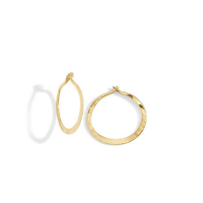 blanca monros gomez mini hammered hoops