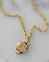 katie diamond jewelry darling oval locket 24""