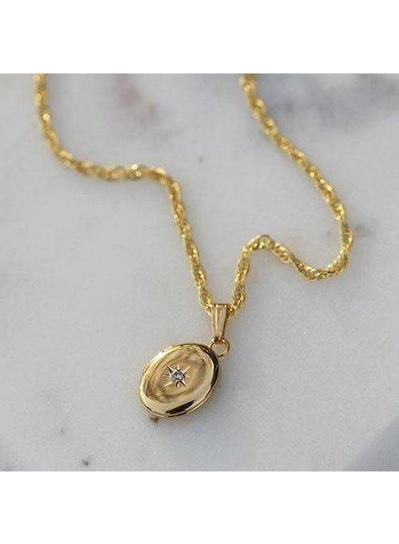 "katie diamond jewelry darling oval locket 24"""