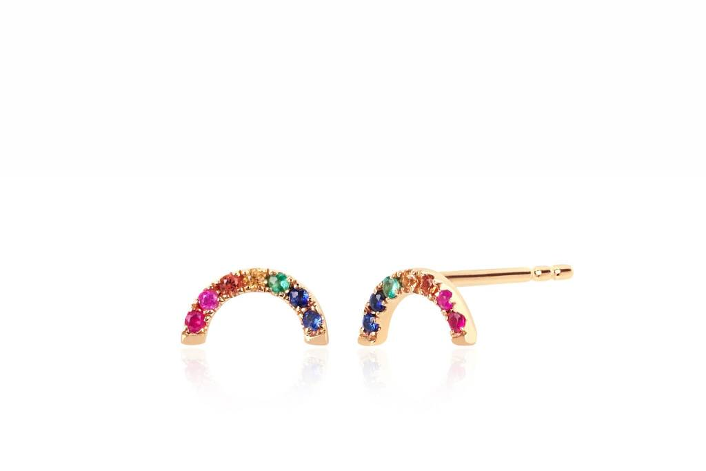 ef collection diamond rainbow stud