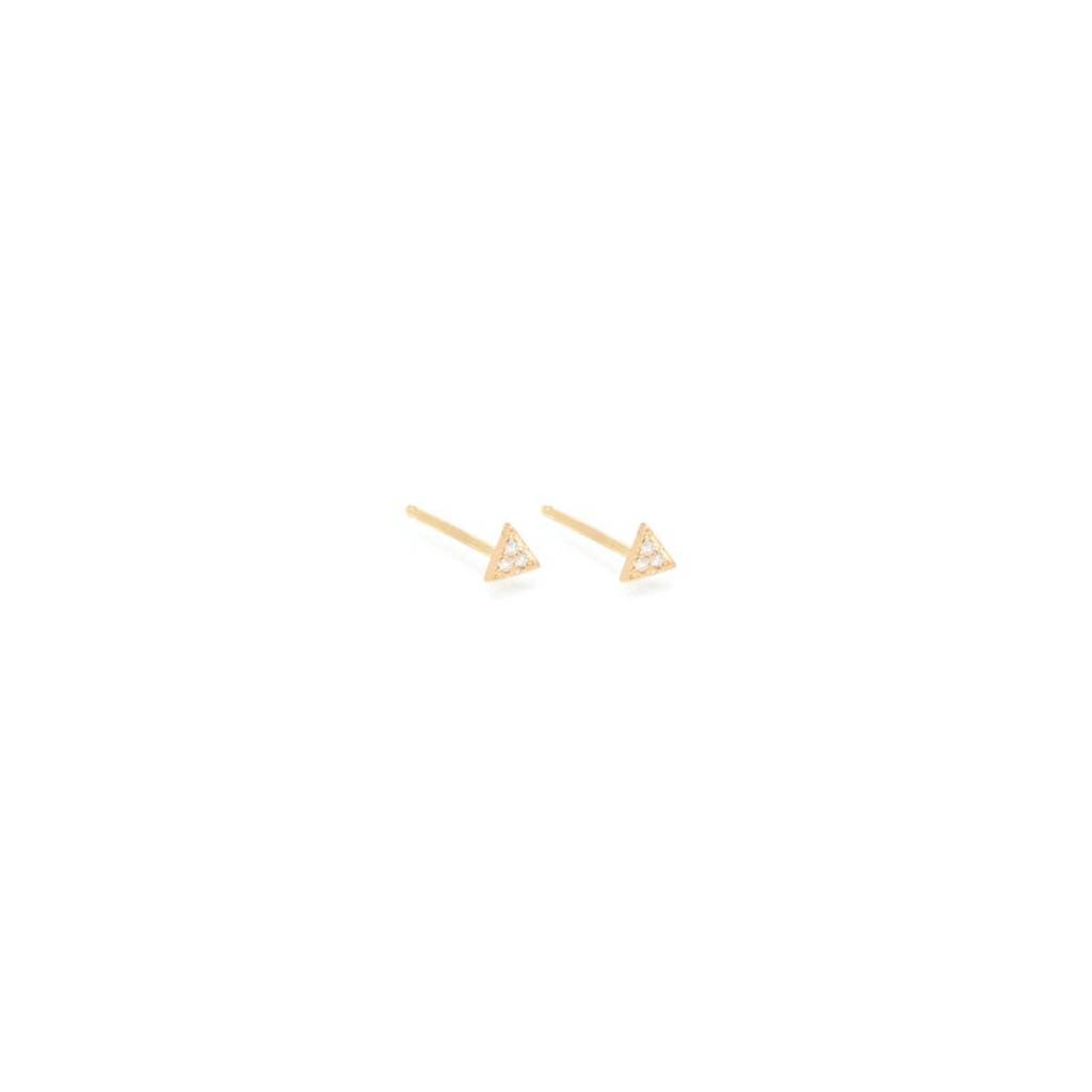 zoe chicco itty bitty pave diamond triangle stud