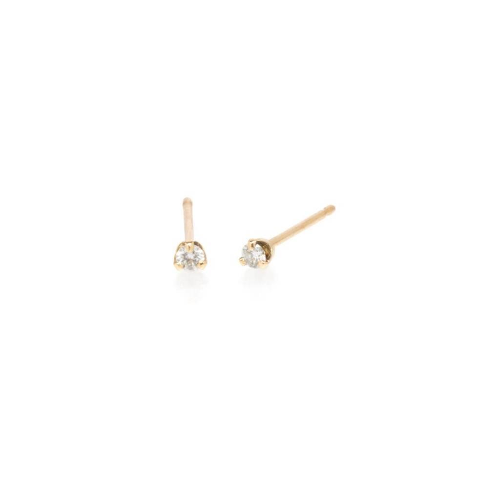 zoe chicco small diamond prong studs