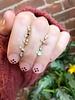 wwake two step earrings opal/tanzanite