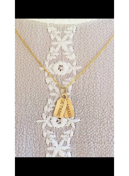 hortense double tag necklace