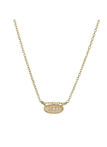 jennie kwon designs oval diamond mirror necklace