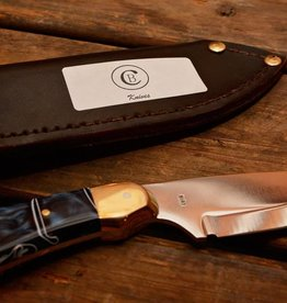 Chris Bird Knife by Chris Bird with Blue Marbled Handle
