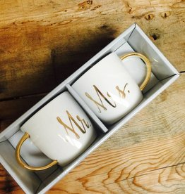 Slant 14 oz. Mr. & Mrs. Mug Set