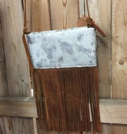 Gypsy Junkies Shoulder Purse (Silver Acid Wash)