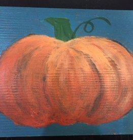 Painted Pumpkin Wood