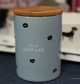 Fringe Studio Ruff Life small ceramic treat jar