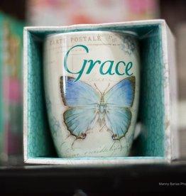 Mug Butterfly Teal Grace