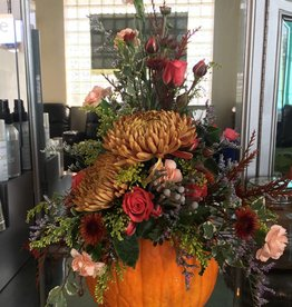 Golden Crown (in house creations) Fall Centerpiece
